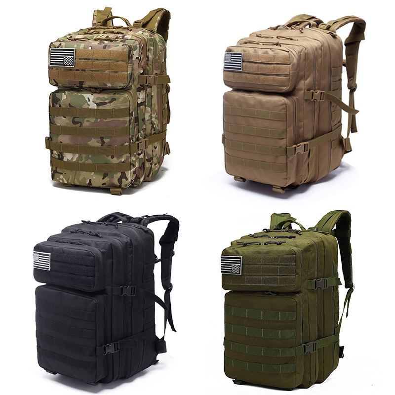 40L Tactical Backpack Military Outdoor Bag Rucksack 800D Waterproof Oxford Cloth Trekking Hunting Camping Bag