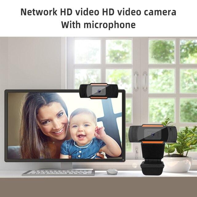 Webcam 1080p 720p 480p câmera da web completa de hd microfone embutido usb rotatable plug webcam para computador pc mac computador portátil desktop 6