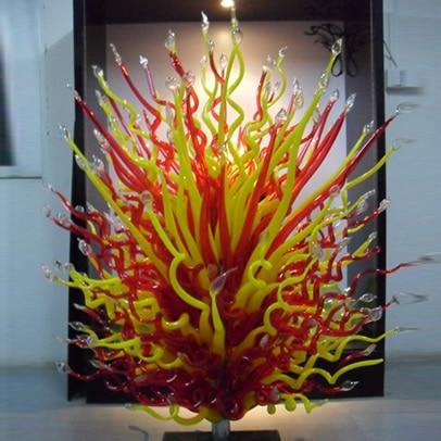Hot Sale Murano Glass Floor Lamp Large Flower Design Glass Art Sculpture Standing Lamp