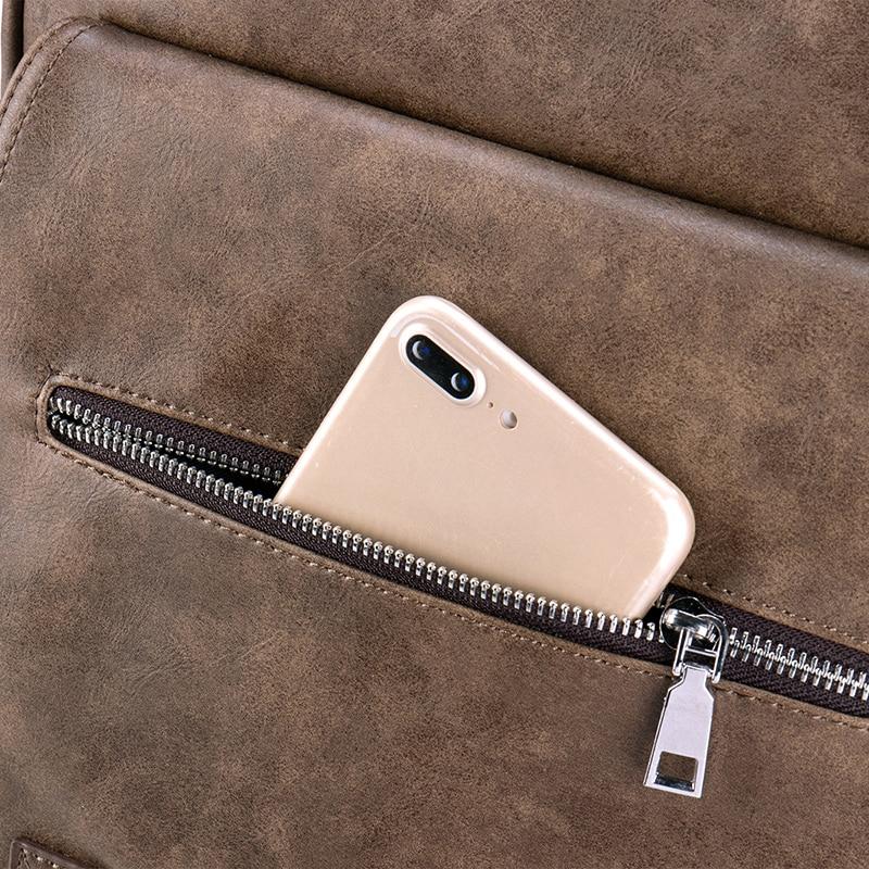 BOPAI, деловой мужской рюкзак, черный, с USB зарядкой, Противоугонный, рюкзак для ноутбука, 15,6 дюймов, мужской, большой емкости, школьные сумки дл... - 5