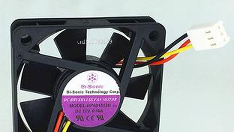 Genuine For Bi-Sonic BP601512H DC12V 0.18A 3pin 3wire 6015 60X60X15MM Cooling Fan Free Shipping