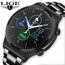 LIGE 2021 New Smart Watch Men ​Bluetooth Call IP67 Waterproof Real-time Heart Rate Monitoring Men's Watches Fashion Smartwatch