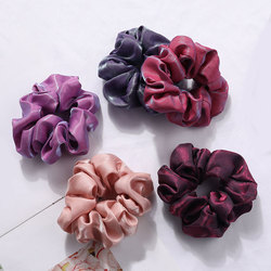 Solid Color Soft Silky Velvet Satin Hair Scrunchie Floral Grip Loop Holder Stretchy Hair Band crunchy Tie Women Hair Accessories