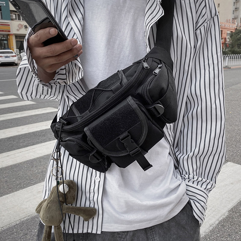 Unisex Waist Bag Tooling Trend Fanny Pack Banana Bags Multifunction Men Crossbody Waist Pack Streetwear Hip Hop Chest Bag