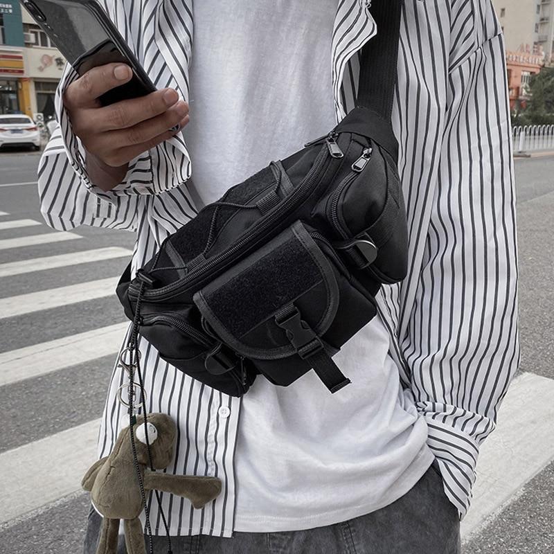 Unisex Waist Bag Tooling Trend Fanny Pack Banana Bags Multifunction Men Crossbody Waist Pack Streetwear Hip Hop Chest Bag