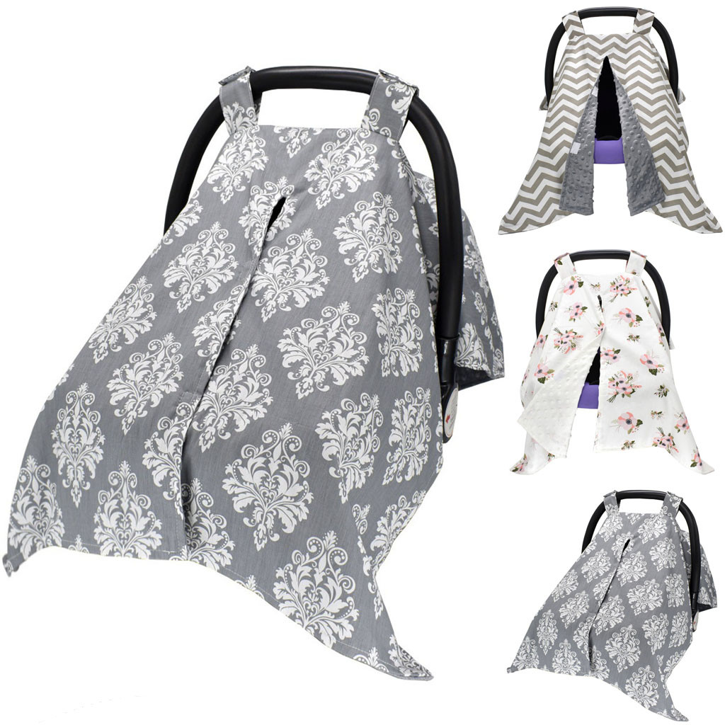 Baby Stretchy Nursing Breastfeeding Cover Multi Use Carseat Canopy