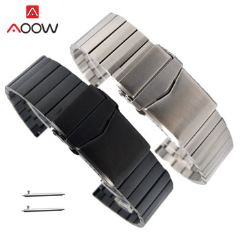 22mm Solid Stainless Steel Strap Quick Release Replace Band for Samsung Galaxy Watch3 46mm Gear S3 Huawei GT 2 Amazfit GTR 47mm