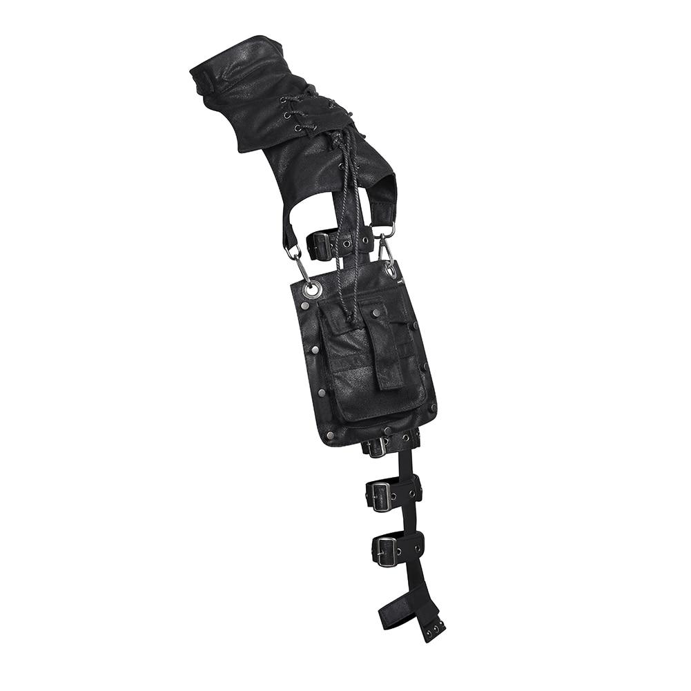 soldado gothic colete ajustável cosplay desempenho bolsa de ombro