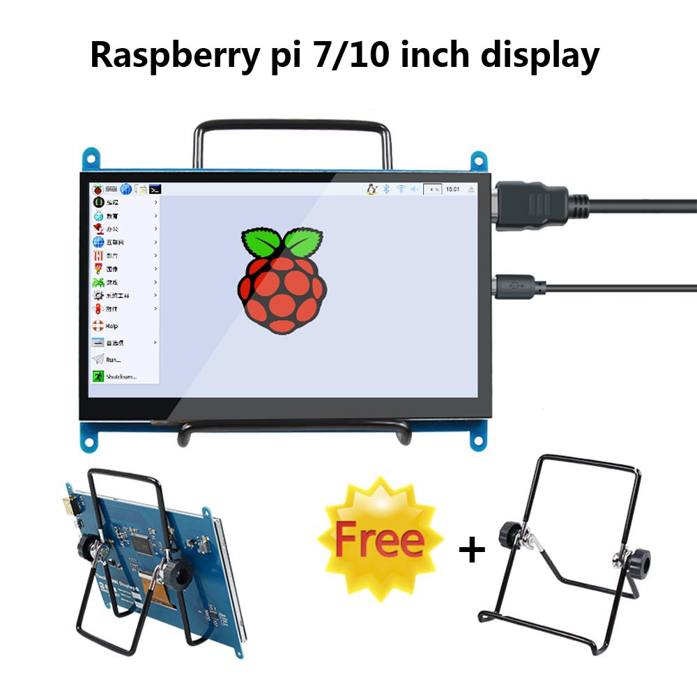 7 Inch/10 Inch Touch Screen 800*480/1026 *600 LCD Display HDMI Interface TFT Monitor Module For Raspberry Pi 3B/3B+/4B/Banana Pi