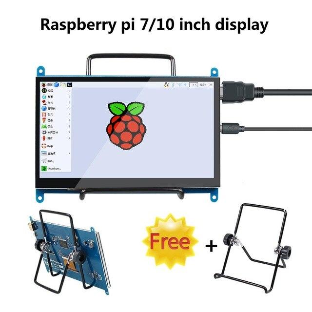 Pantalla táctil de 7 pulgadas/10 pulgadas, pantalla LCD de 800*480/1026*600, módulo de Monitor TFT con interfaz HDMI para Raspberry pi 3B/3B +/4B/Banana pi