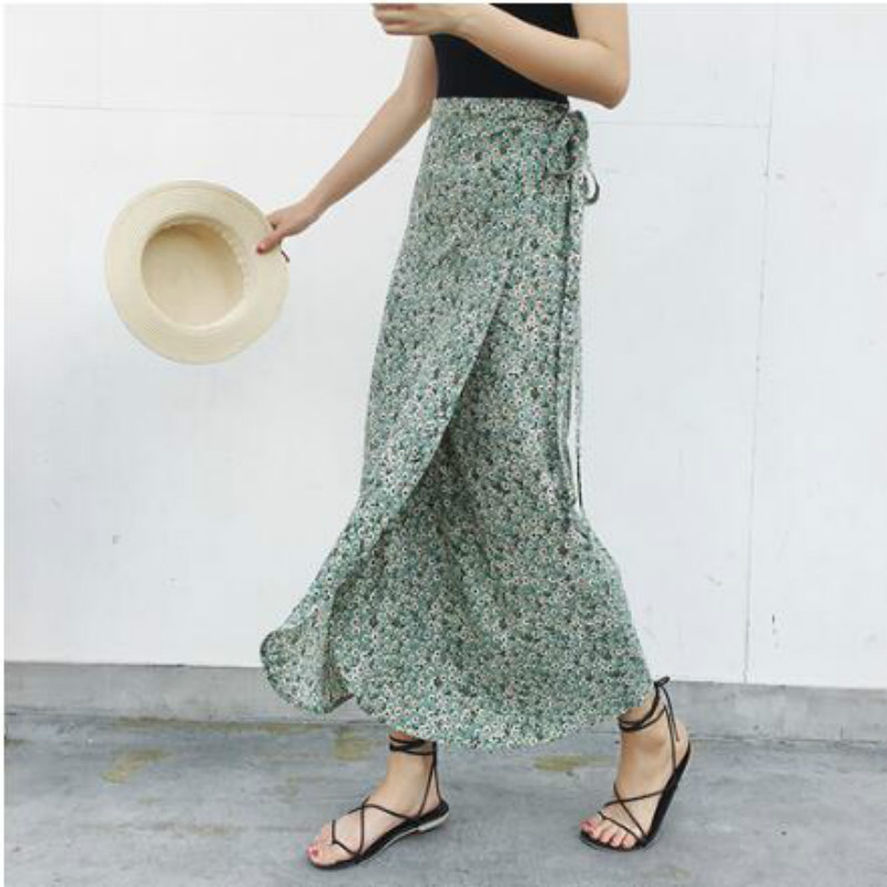 Summer Boho Print Holiday Beach Skirts Women's Skirts