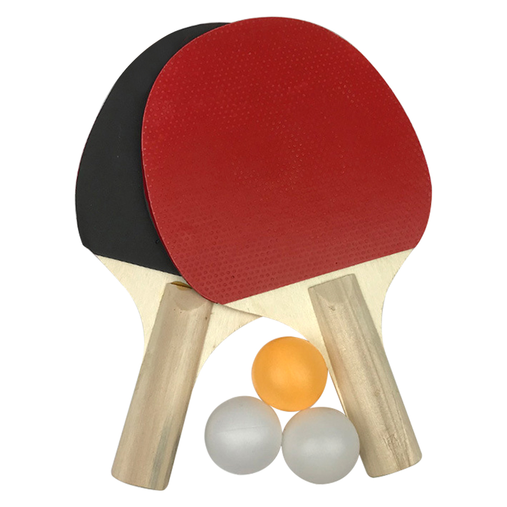 3 Balls Table Tennis Set Kids Gift Anti Slip Wear Resistant School Durable Exercise 2 Rackets Home Playground Sports Equipment