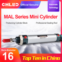 CHLED MAL Series Mini Pneumatic Cylinder 16/20/25/32mm Bore 25-300mm Stroke Double Acting Aluminum Alloy Air Fr