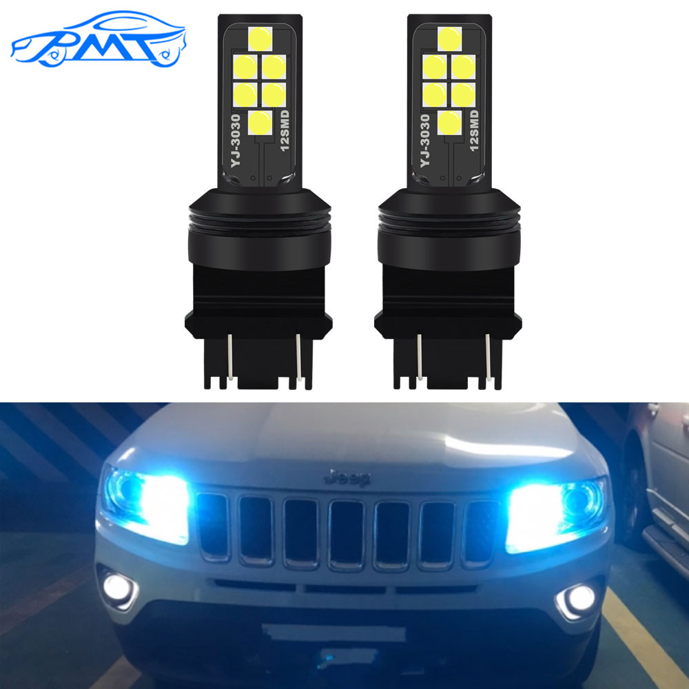 BMT 6000K белый Canbus 3157 светодиодный 3357 3457 T25 светодиодный лампы для дневных ходовых огней, DRL для 2011-up Jeep Grand Cherokee 12V