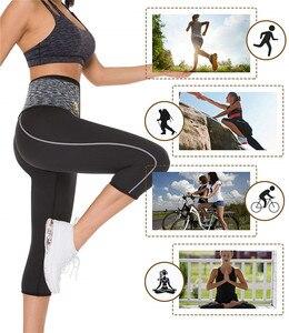 Image 5 - NINGMI Sport Pant mujer neopreno Sauna Body Shaper entrenador de cintura de adelgazamiento bragas con Control de barriga Leggings cortos con bolsillo para teléfono