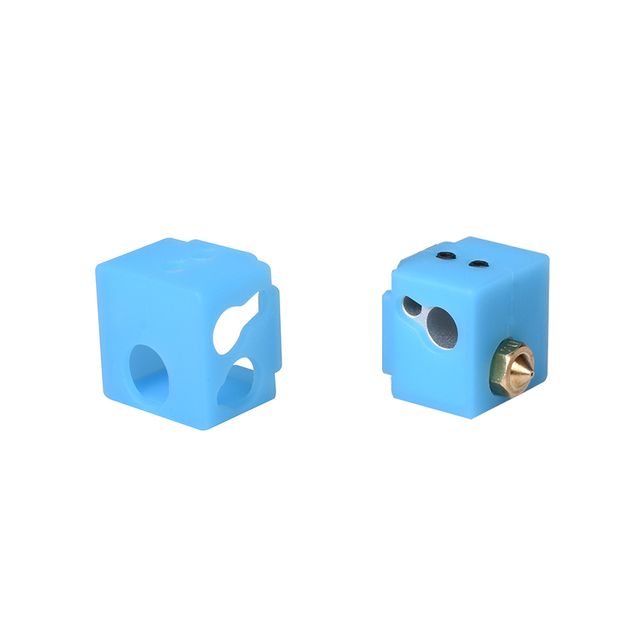 V5 Heater Block Aluminum Block V5 Silicone Sock 3D Printer Parts VS E3D V6 Block Fit J-head Hotend Bowden Extruder To Thermistor 4
