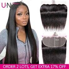 Unice Hair 13*6 dentelle transparente frontale 8 18 pouces droite cheveux humains pré plumé brésilien Remy cheveux couleur naturelle
