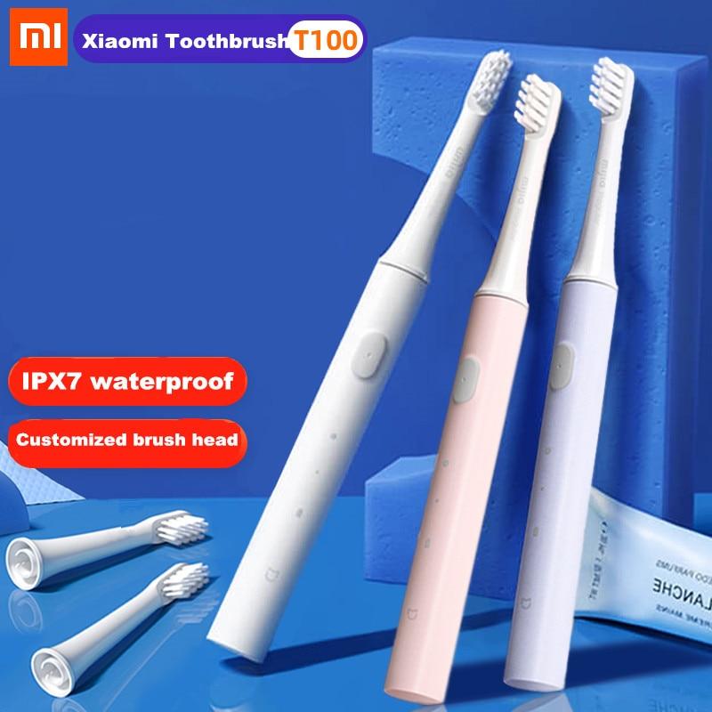 100% Xiaomi Mijia T100 Sonic elektrikli diş fırçası yetişkin ultrasonik otomatik diş fırçası USB şarj edilebilir IPX7 su geçirmez