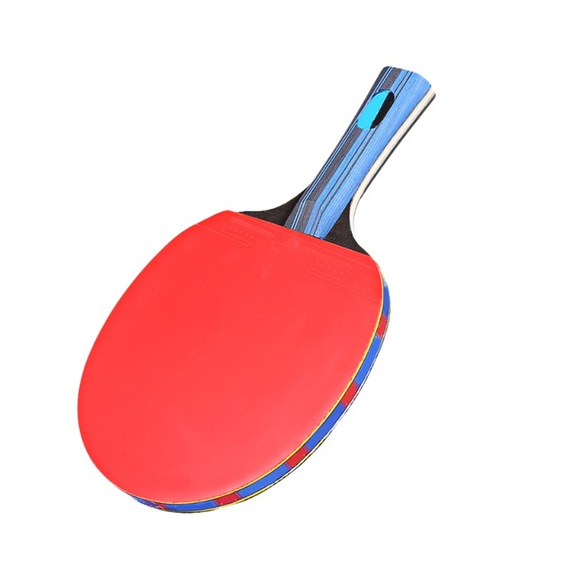 Table Tennis Racket Double Side Pimples-in Rubber Wooden Bottom Ping-pong Bats Racquet Sports Accessories With Balls Bag 2