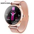 North Edge mujer Smart Watch pantalla a Color IP67 deportes impermeables para Iphone smartwatch con Monitor de ritmo cardíaco Monitor de presión arterial|Relojes inteligentes| |  -