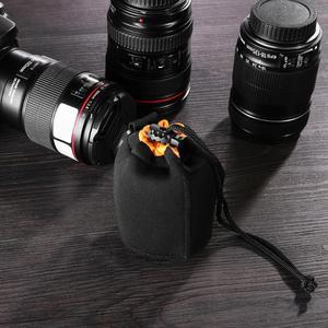 Image 5 - ALLOYSEED מצלמה עדשת פאוץ תיק Neoprene עמיד למים וידאו מצלמה עדשת פאוץ תיק מקרה מלא גודל S M L XL מצלמה עדשת מגן