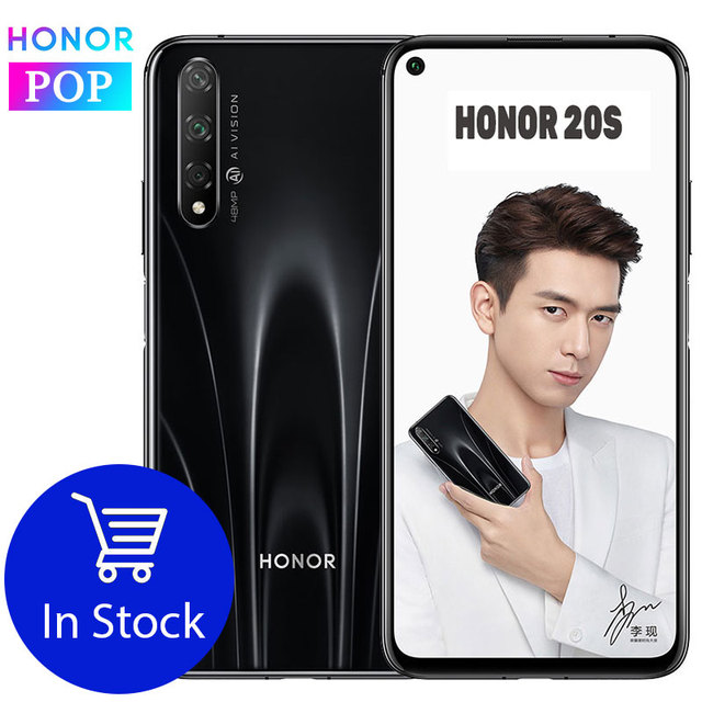 HONOR 20 S téléphone portable honour 20 S 6.26 pouces Octa Core Android 9.0 empreinte digitale ID GPU Turbo 3.0 20W Charge rapide
