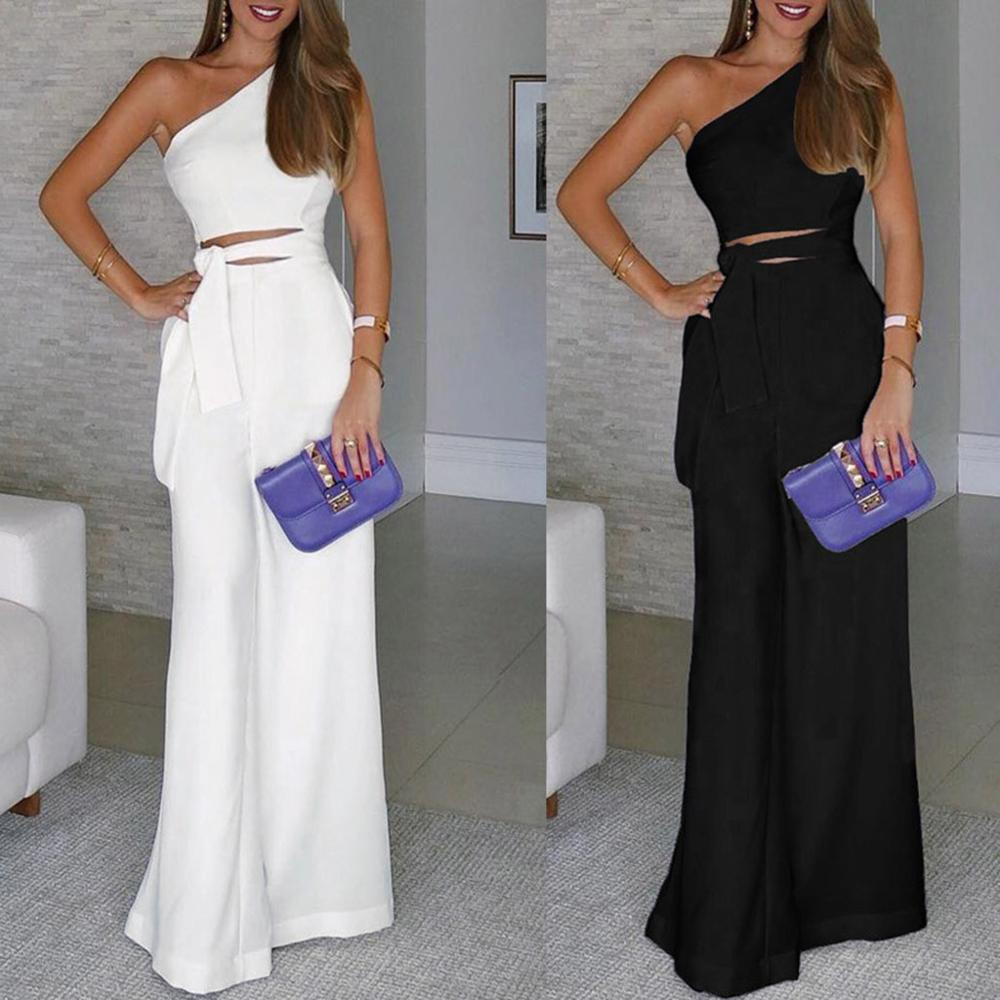 Fseason-Women Backless Slimming Solid Color Strapless Rompers Playsuit