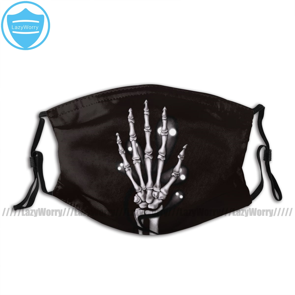 Ghost Skeleton Mouth Face Mask Skeleton Hand With Creepy Ghosts Gothic Facial Mask Fashion Adult Mask