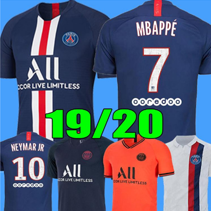 19 20 Maillots De Foot PSG Soccer Jersey 2019 2020 Camisetas MBAPPE MARQUINHOS GANA SARABIA DI MARIA DRAXLER Football Shirts
