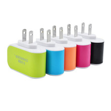 Universal Candy Color 3USB Charger Travel Wall Charger Adapter Smart Mobile Phone Power Supply Charger for Tablets