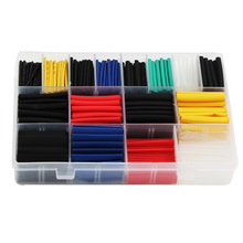 580pcs Electrical Equipment PE Heat Shrink Tube Connect Insulation Flame Retardant Eco Friendly DIY Wrap Wire Assorted Sleeving