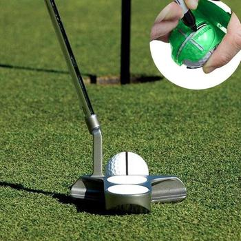 Golf Line Drawing Golf Line Clamp Golf Mark Template Ball Golf Line Scribe Drawing Shell Tool Equipment Transparent U3M3 image