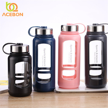 Outdoor Sports Glass Bottle Portable Round Leakproof Travel Carrying T