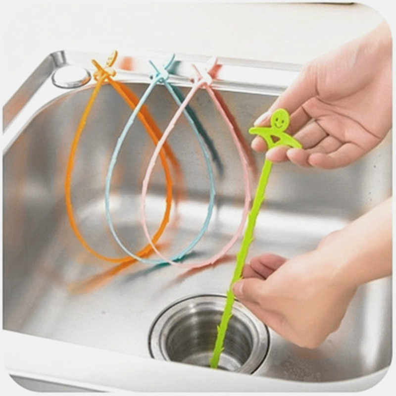 1 adet Kawaii kat saç temizleyici kanalizasyon filtre tahliye temizleyicileri mutfak lavabo drenaj filtre süzgeç küvet lavabo temizleme kanca aracı