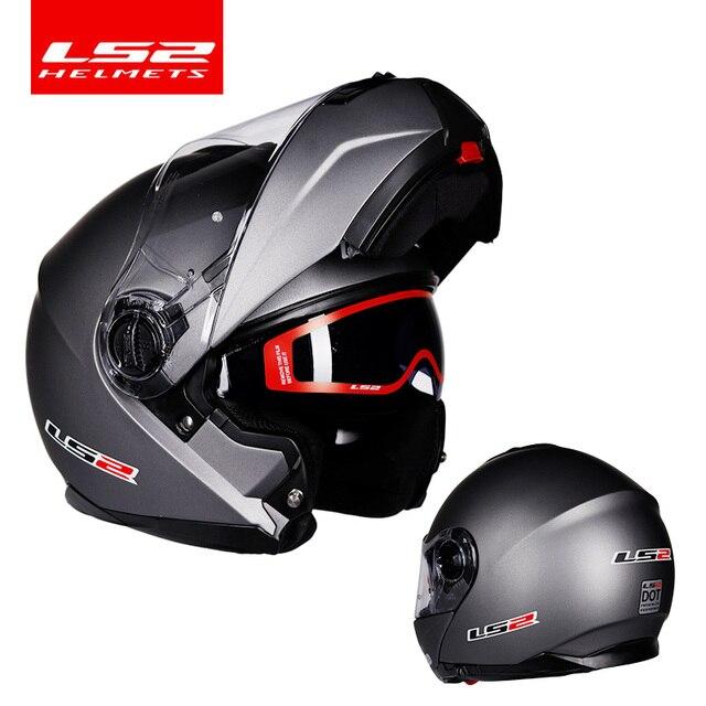 Original LS2 FF325 flip up motorrad helm doppel linse sonnenbrillen schild ls2 strobe volle gesicht helme