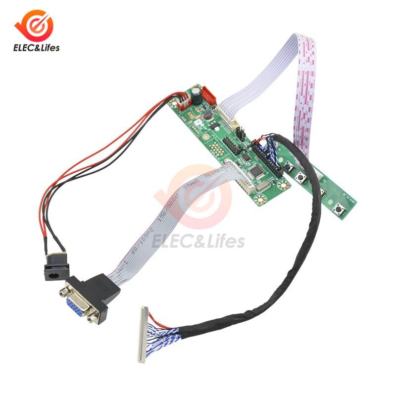 1 kanał wyświetlacz LCD FHD wideo VGA MT6820 MT6820-MD HX6820-A HX6820 V2.0 uniwersalny płyta sterownicza + moduł LVDS kabel ekranu zestaw