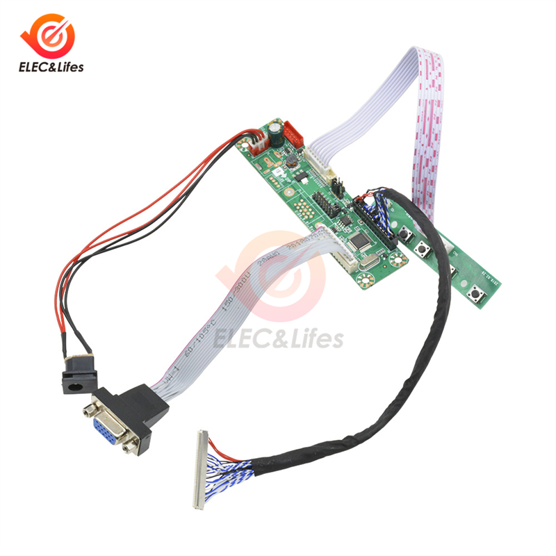 For 10-42 Inch Universal LVDS LCD Display Monitor VGA Video MT6820 MT6820-MD HX6820-A HX6820 V2.0 Driver Controller Board FHD