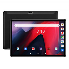 Novo 2.5d vidro 10 polegada tablet quad core 32 gb emmc armazenamento 3g wcdma 1280x800 duplo cartão sim android 9.0 torta portátil
