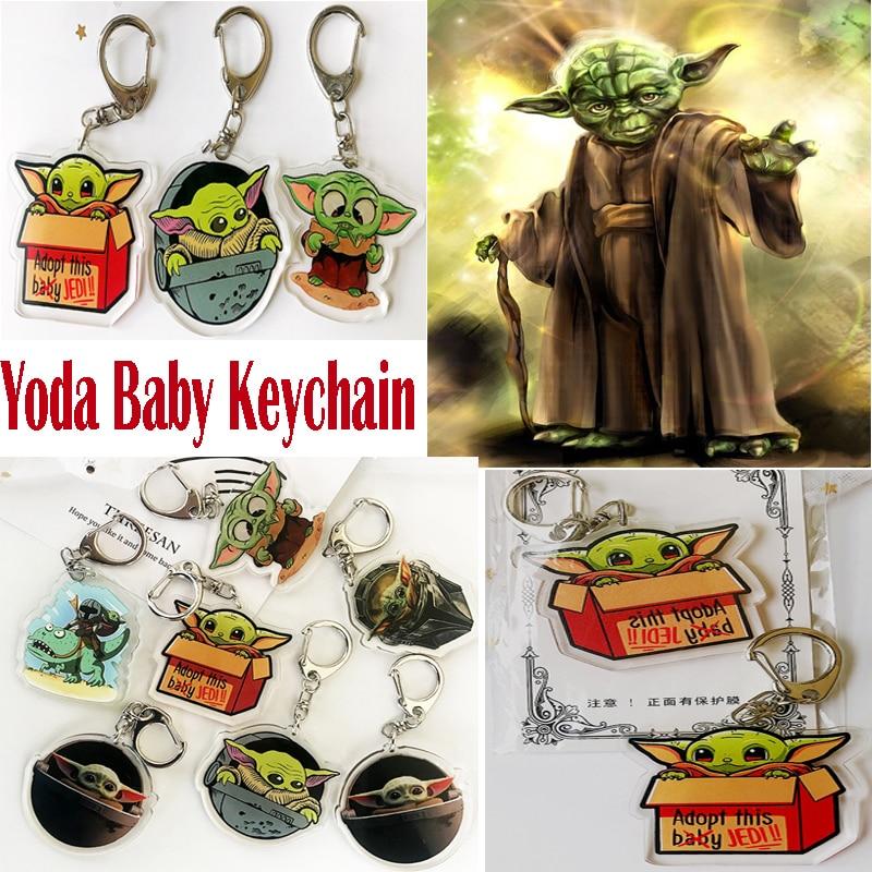 Baby Yoda Keychain Cute Star Wars The Rise Of Skywalker Keyring Men Women Fashion Anime Jewelry Key Chain Gift Toys