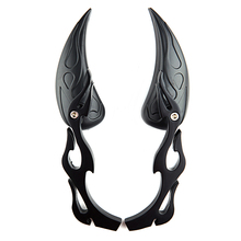 лучшая цена Universal Black Motorcycle Cruiser Flame TEARDROP Rearview Mirrors for yamaha Harley-Davidson suzuki KTM Ducati Kawasaki Aprilia