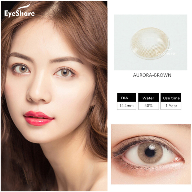 EYESHARE 1 Pair (2pcs)  Natural Crystal  Color Contact Lens for Eyes Cosmetic  Contact Lenses  Eye Color 5