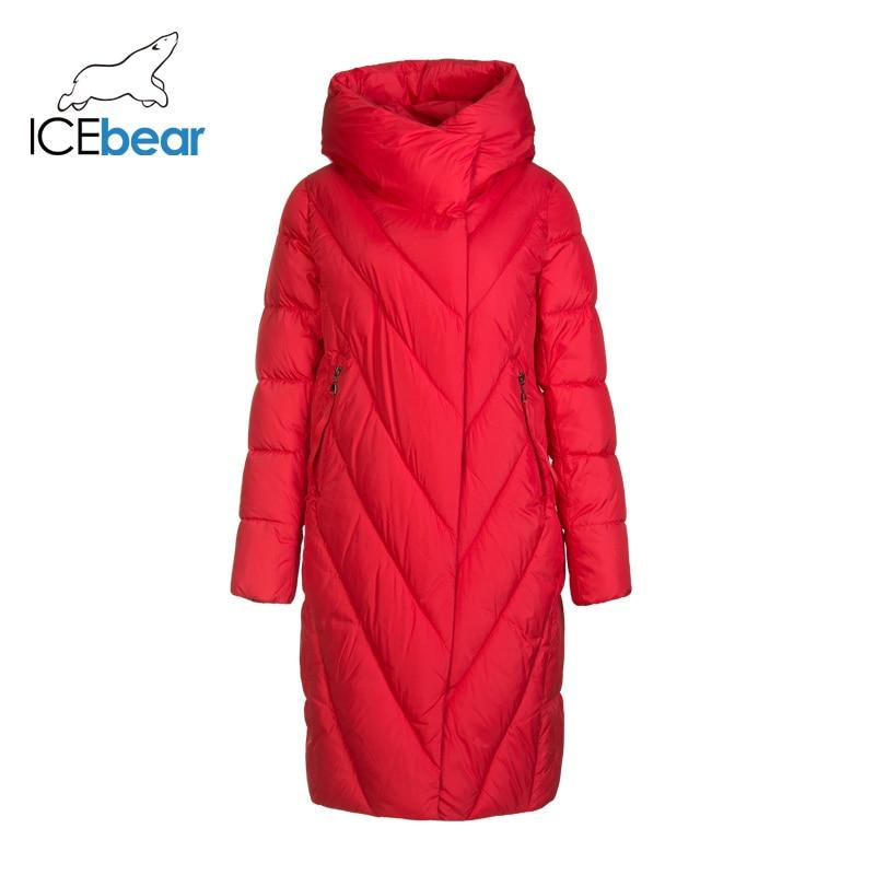 ICEbear 2019 новый зимний длинный женский пуховик модная теплая Женская куртка Брендовая женская одежда GWD19149I