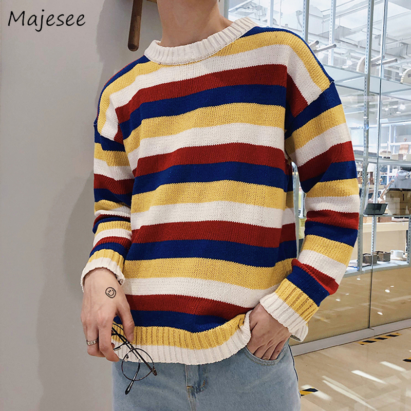 Men Winter Sweater Long Sleeve Tops Harajuku Pullover Soft Mens Sweaters Hot Sale High Quality Plus Size Korean Clothes O-neck