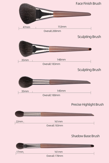 OVW All Goat Hair 7/8/9 PCS Makeup Brush Set Professional Cosmetic conjunto pinceis de maquiagem for Eye Shadow Face Contour 2