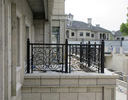 China Iron Company Fancy Steel Metal Aluminium Wrought Iron Balcony,iron Railing,iron Balustrades Design Hc-4