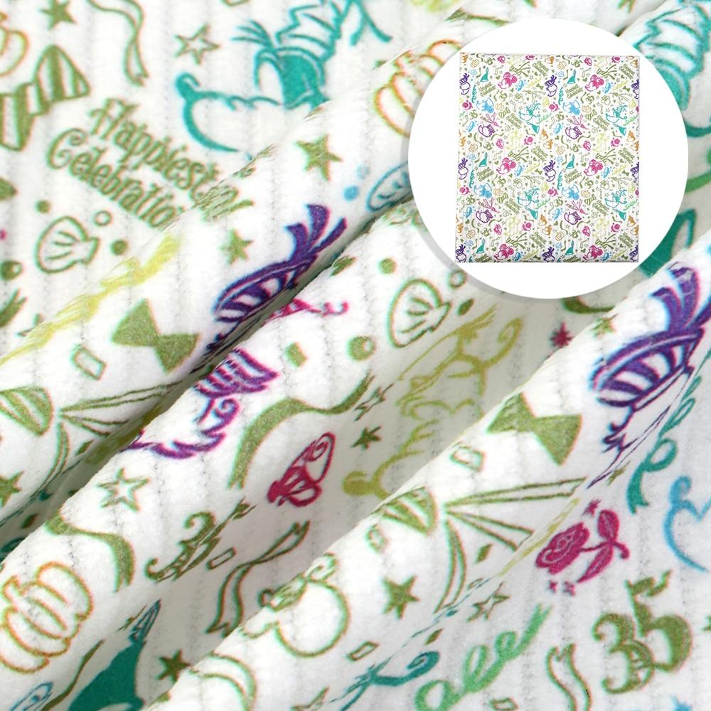 50*140cm Cartoon Corduroy Sewing Cloth Materials Nap Fiber Home textiles Fabric High Quality Stretchy Velvet Fabric,c9697