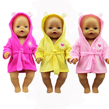 Suit Doll-Clothes New Born Bathrobe Baby Fit 17inch Accessories for Gift 43cm Colorful