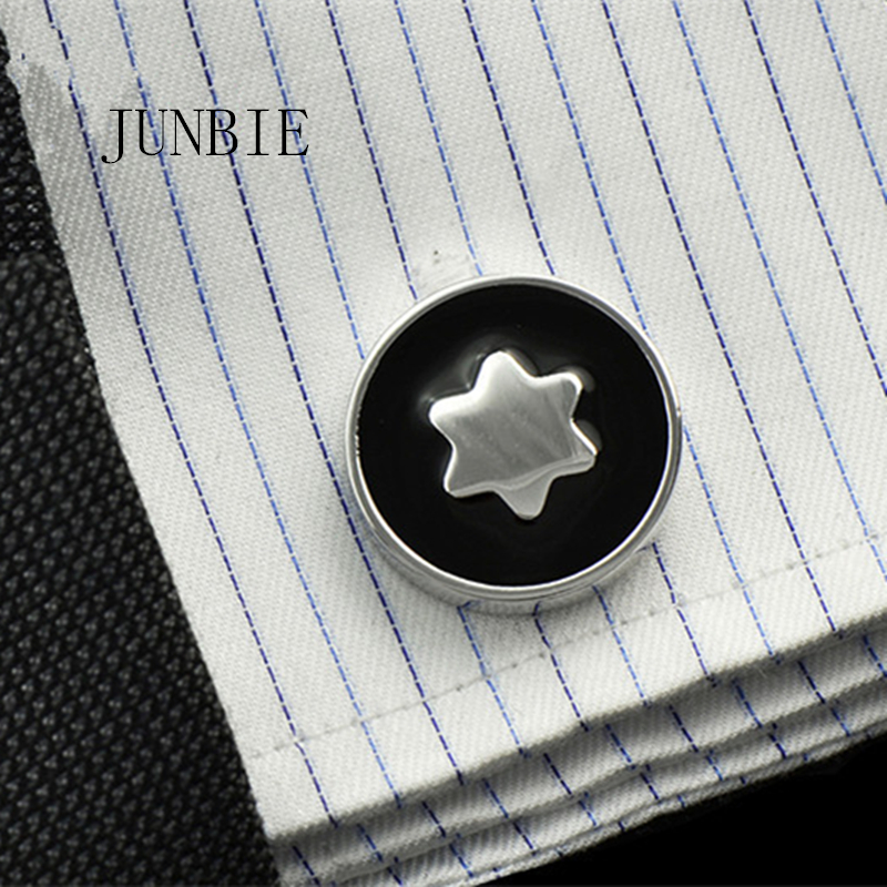 JUNBIE Luxury Shirt Cufflinks For Men's Brand Cuff Buttons Cuff Links Gemelos High Quality Round Wedding Abotoaduras Jewelry