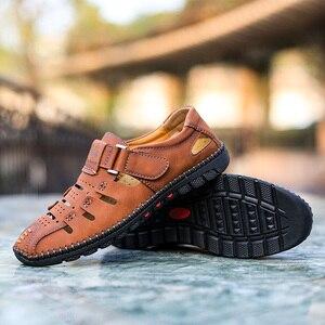 Image 5 - Tamanho grande 38 48 moda masculina sandálias de praia verão respirável sapatos de caminhada casuais ao ar livre masculino zapatos de hombre