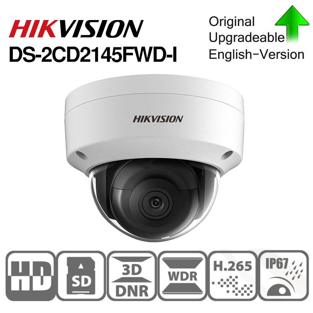 Pre-verkauf Hikvision DS-2CD2145FWD-I IR Netzwerk Dome POE Kamera Video Sicherheit 4MP 30M IR IP67 IK10 H.265 + SD card slot 10 teile/los